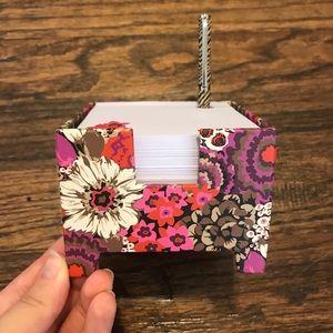 Vera Bradley Rosewood Note Cube